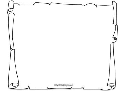 cornici per papiri pergamena da colorare tuttodisegni