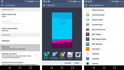 change lock screen android how to change the lg g4 s lock screen app shortcuts