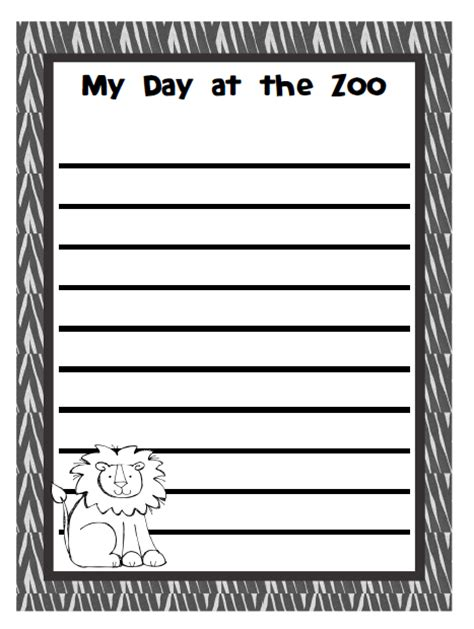 zoo writing paper ready set read free printables zoo activities and books