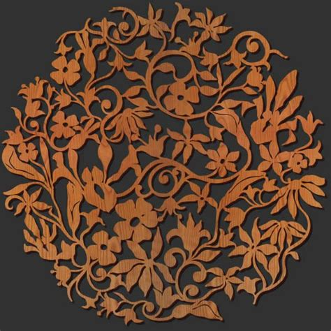 Laser Decorations - laser cut wall decor of wood