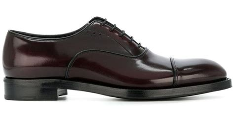 prada oxford shoes prada patent oxford shoes in for lyst