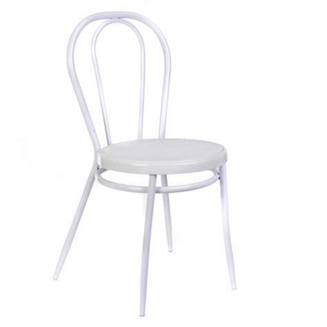 chaise bistrot blanche chaise bistrot tamara blanc l 49 x h 85 x p 48 5