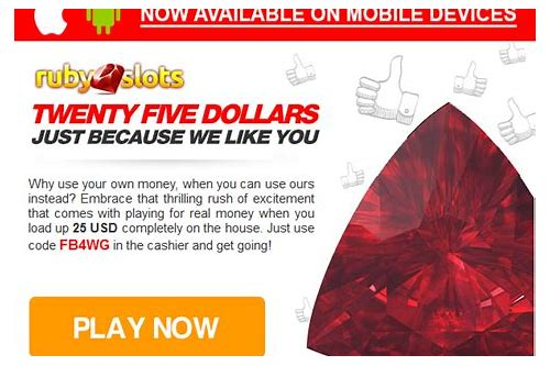 ruby slots no deposit coupon codes