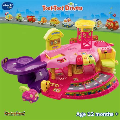 V Tech Toot Toot Garage by Vtech Baby Toot Toot Drivers Garage Pink