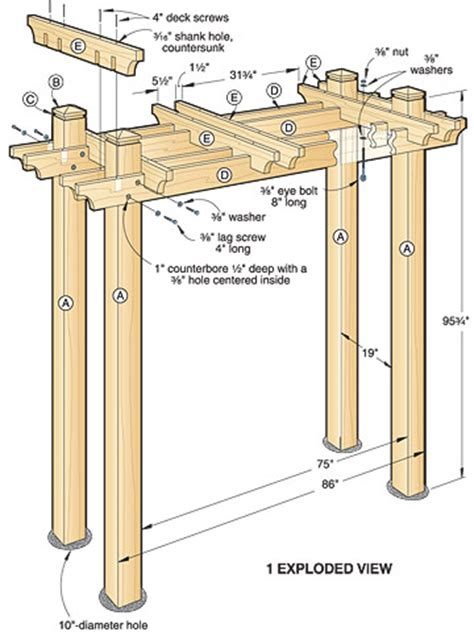 pin free pergola plans on pinterest