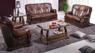 Living Rooms With Leather Furniture Oakman Leather Living Room Furniture Sofa Set By Esf Neo Furniture