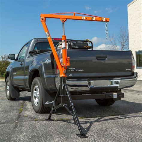 truck bed crane receiver hitch crane by apex 1 000 lb capacity hmc