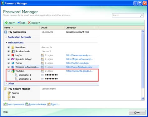 how to reset kaspersky 2013 password how to save youtube account in password manager in