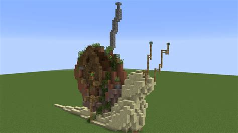 minecraft grian boat wacky builds giant snail house youtube