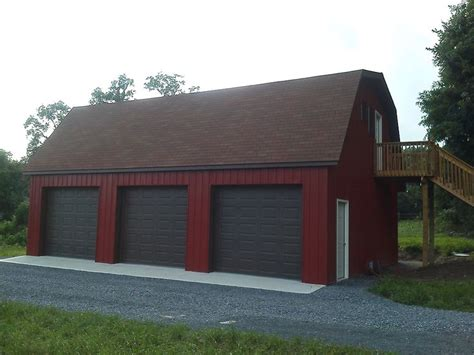 gambrel roof garage pole buildings projects gambrel attic pole barn