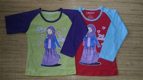 Kaos Anak Muslim Zahra Smile Kaos Anak Muslim Zahra Be Happy Just Smile Grosir Baju