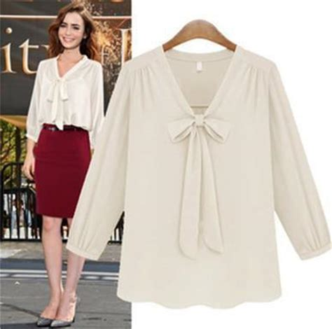 aliexpress buy new arrivals blouses ribbon blouse sleeve chiffon