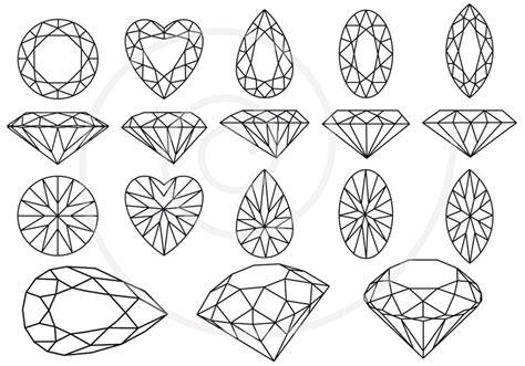 printable jewel shapes diamonds and gem stones digital clip art set jewels