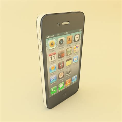 Hp Iphone 4 Gsm Second 3d apple iphone 4 gsm model