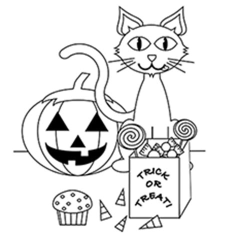 halloween scary cat coloring pages halloween cat pictures to color