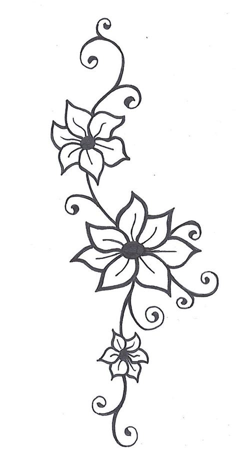 flower vine tattoo designs flower scroll design stencils quotes