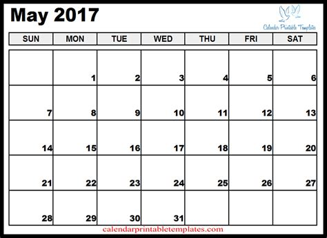 may calendar template may calendar printable template pdf uk usa canada 2017