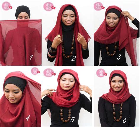 Kreasi Jilbab Segi Empat different styles for faces hijabiworld