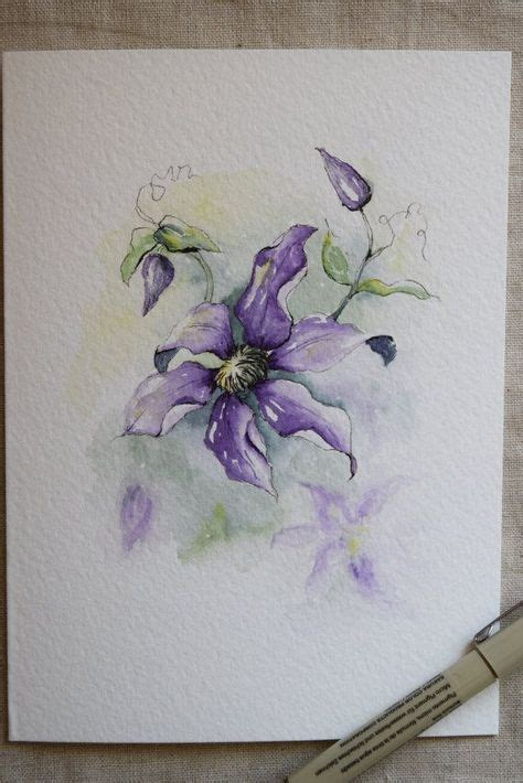 clematis tattoo designs billedresultat for clematis watercolor watercolor