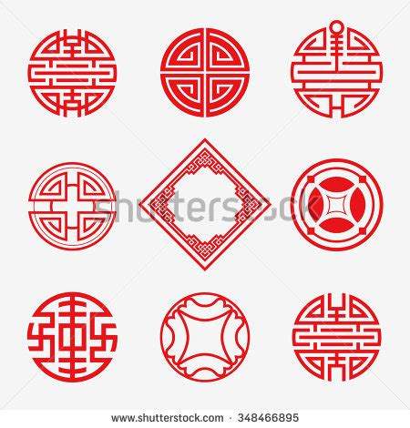 chinese pattern and meaning chinese symbols stock images royalty free images