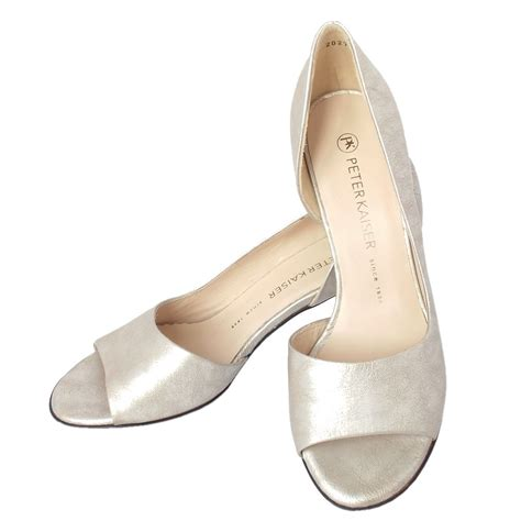 toe shoes kaiser jamala open toe shoes in silver leather