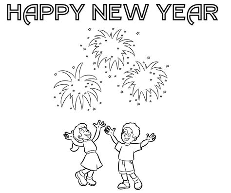 new year 2015 colouring pages free colour drawing free hd wallpapers happy new year 2015