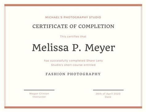 certificate of completion wording oloschurchtp com
