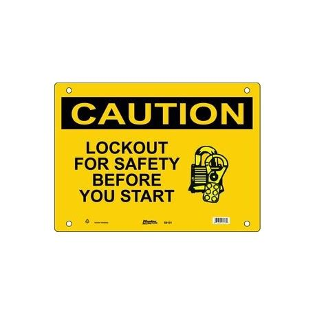 master lock s8100, s8101, s8102 caution sign lockout for