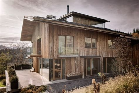 alpine home design utah wood house with nature surrounding by gogl architekten