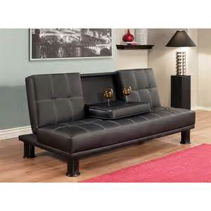 leather fold out sofa couch convertible futon sleeper multi function living room ebay