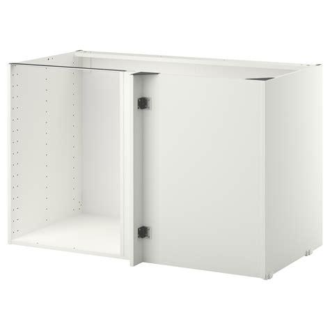 ikea kitchen cabinet construction metod corner base cabinet frame white 128x68x80 cm ikea
