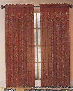 Sheer Curtains With Attached Valance Classics Home Embroidered Sheer Curtain Window Panel With Attached Valance