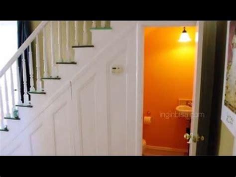 desain kamar mandi  bawah tangga youtube