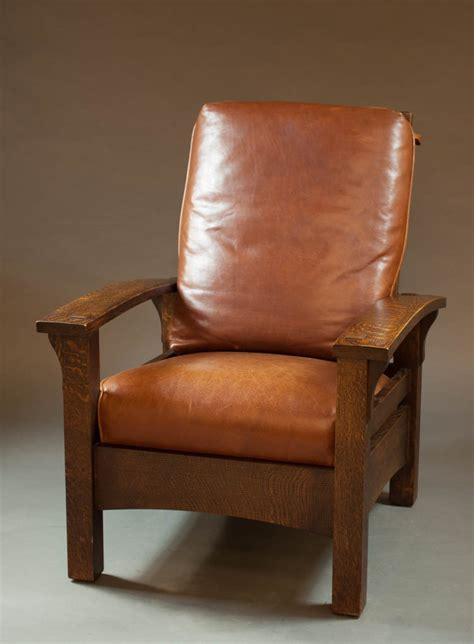 morris armchair craftsman oak and leather morris armchair warren