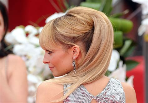 half up half down hairstyles red carpet stylenoted nicole richie s creative red carpet hairstyle