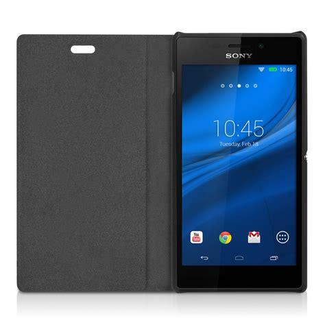 Hadlrd Spigen Sony Xpria M2 flip cover for sony xperia m2 black slim back shell mobile phone