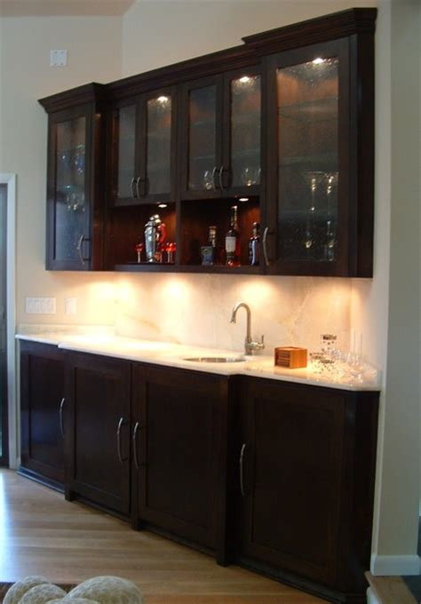 What Is A Wood Finish For A Bar Top Builtin Sever Bar Cherry Wood Espresso Finish W Onxy