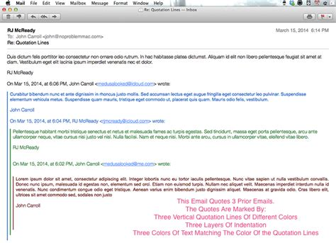 Email Quotation | how to remove those annoying colored lines from emails