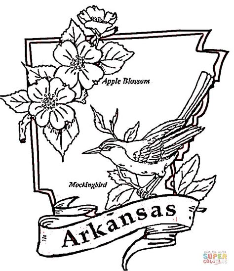 arkansas coloring page free printable coloring pages
