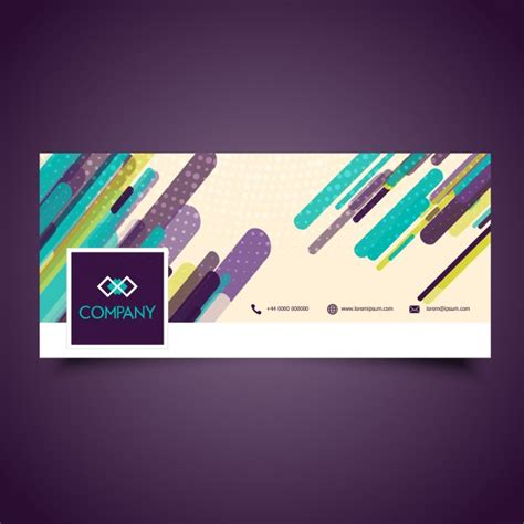 design a cover page for facebook abstract design for facebook timeline cover vector free