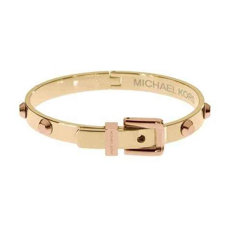 michael kors two tone studded buckle bracelets