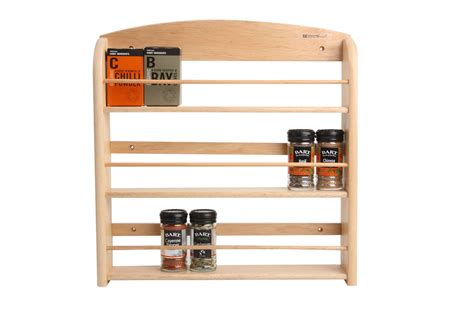 Kitchen Rack Design Decorating Mesmerizing Wooden Spice Rack 24 Jar With 3 Tier Shelf On White Wall Mounted Kitchen
