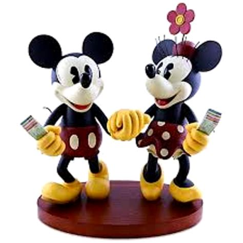 Mickey And Minnie Disney Import Preloved disney pie eyed minnie and mickey mouse figurine