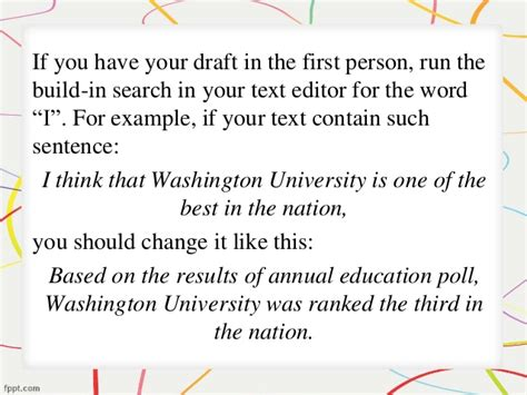 writing a paper in third person how to write a research paper in the third person