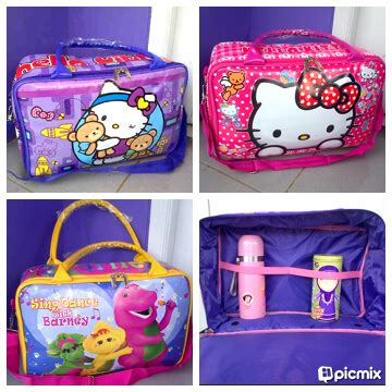 Travel Bag Karakter Minions Bahan Kanvas Blue Best Seller rumah rara travel bag karakter