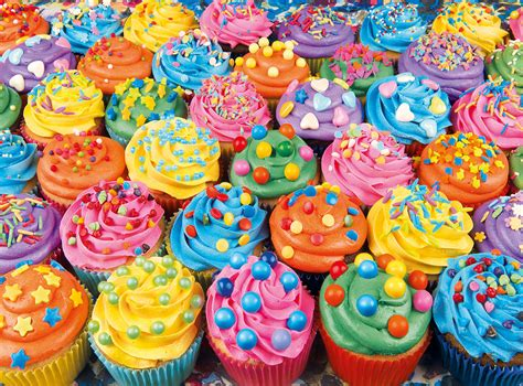 colorful cupcakes colorful cupcakes 500pc jigsaw puzzle by clementoni