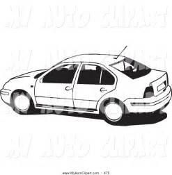 clip of a black and white volkswagen jetta car driving