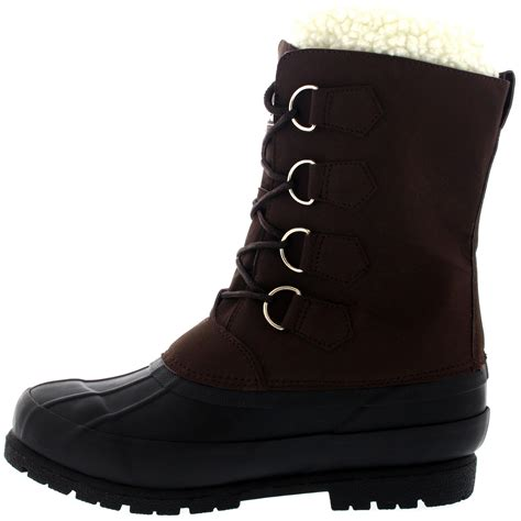 mens wool boots mens winter wool lined 100 rubber duck sole warm casual