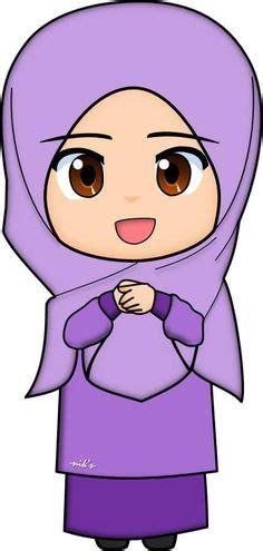 Jilbab Luris Fliwery gambar kartun muslim dan muslimah lucu banget terbaru
