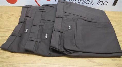 cintas comfort flex lot of 3 cintas dark brown work pants comfort flex 945 50